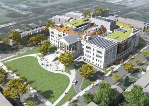 4-Aerial View NE (k-12 ) school building design